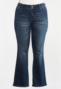 Plus Size High-Rise Bootcut Jeans