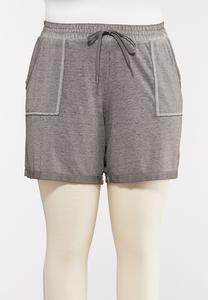 Plus Size French Terry Shorts