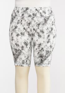 Plus Size Tie Dye Biker Shorts