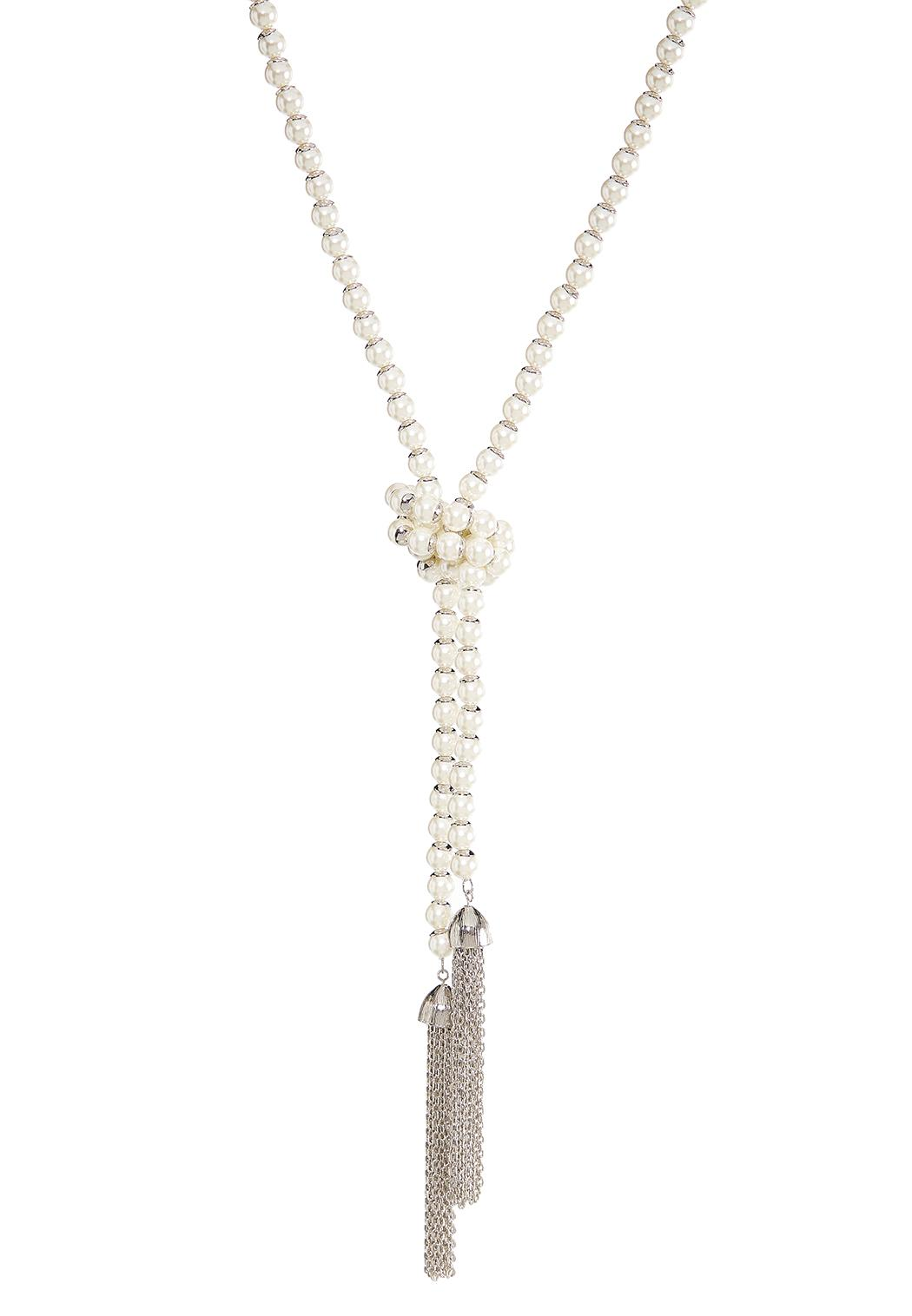 Pearl Y-Neck Chain Tassel Necklace