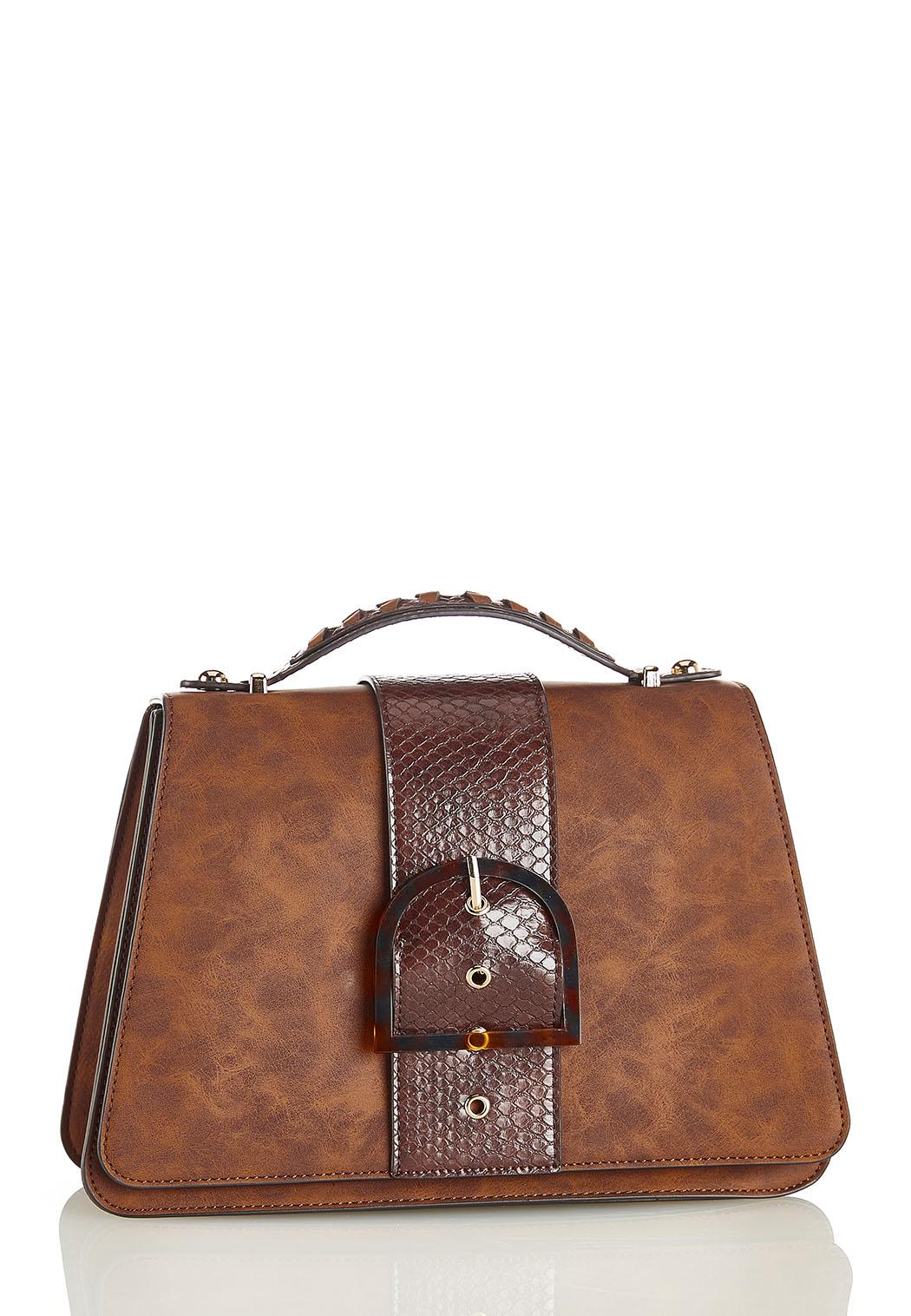 Snake Buckle Structured Crossbody