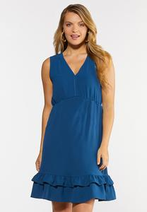 Plus Size Ruffled Empire Dress