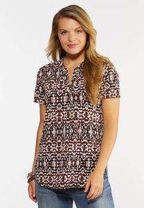 Plus Size Abstract Popover Top