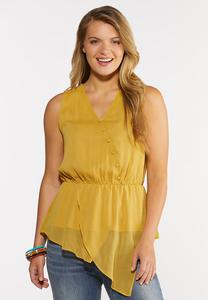 Plus Size Asymmetrical Peplum Top