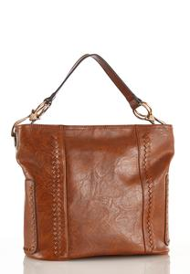 Whipstitch Pocket Hobo Handbag