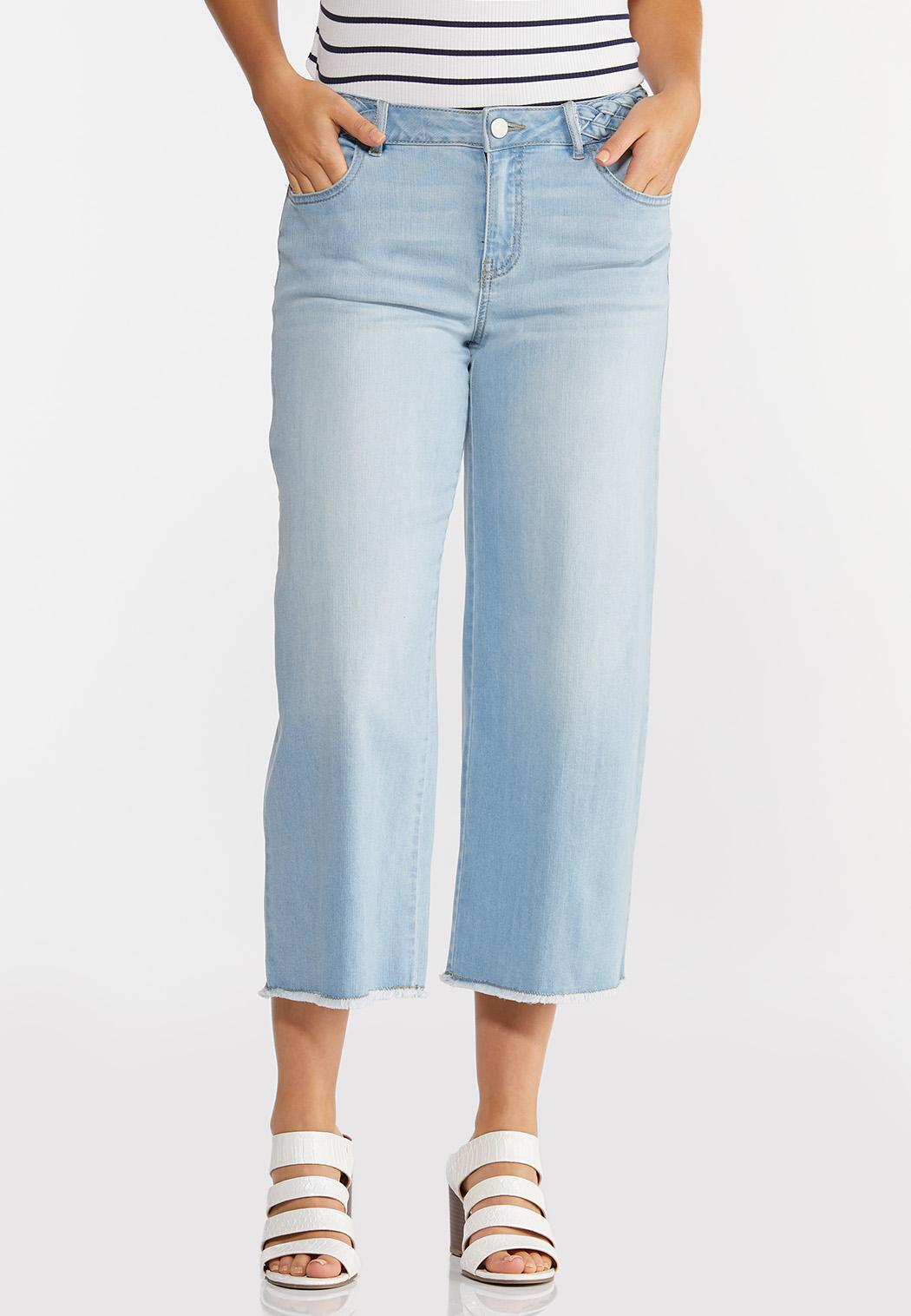 Cropped Braided Waist Jeans