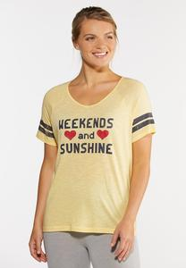Plus Size Weekends And Sunshine Tee