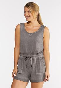Gray Athleisure Romper