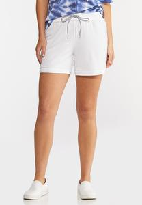 French Terry Raw Hem Shorts