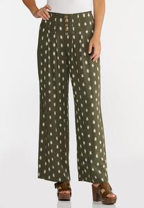 Dotted Olive Pants