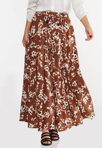 Spotted Leaf Maxi Skirt