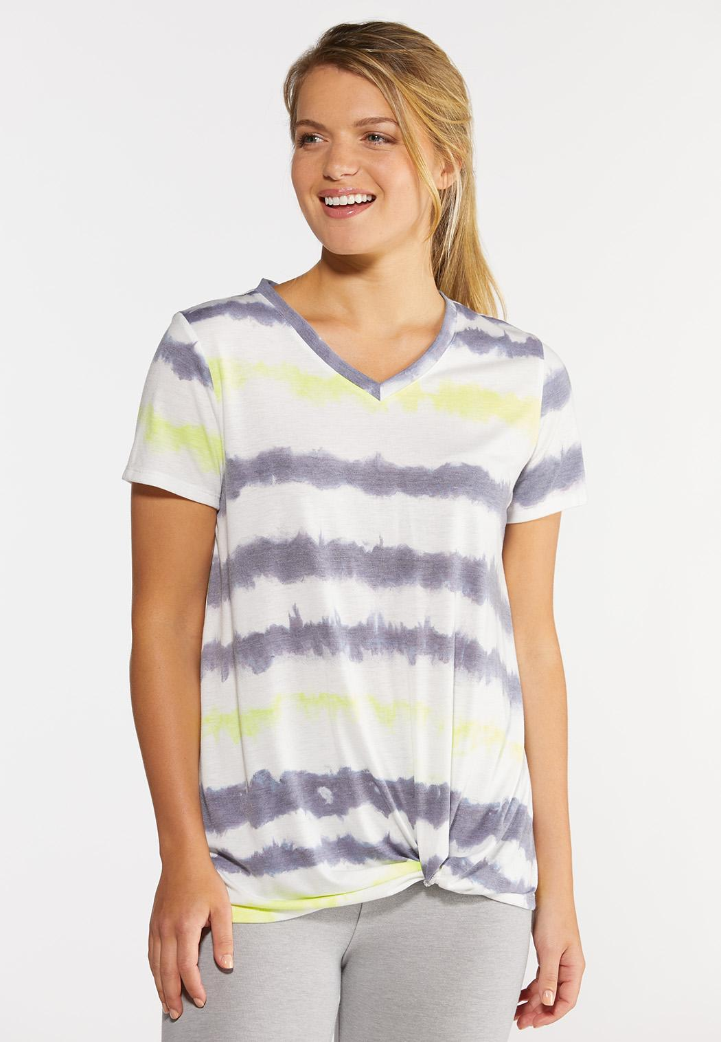 Knotted Tie Dye Top