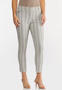 Button Pocket Stripe Pants