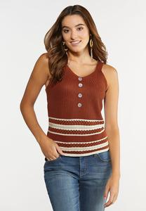 Mixed Stitch Sweater Tank