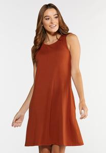 Plus Size Paisley Tie Back Dress