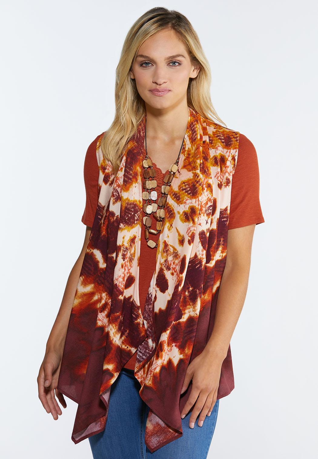 Cranberry Tie Dye Vest