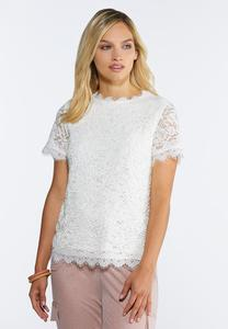 Plus Size Vintage Lace Top