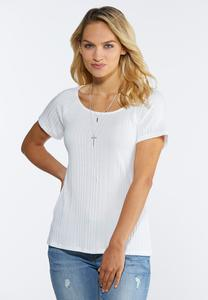 Plus Size Ribbed Scoop Neck Top