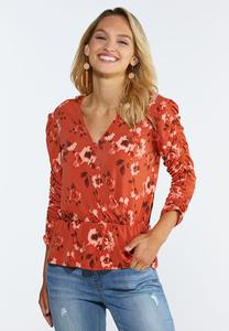 Cinch Sleeve Wrap Top