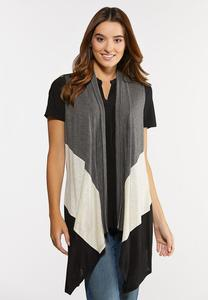 Draped Colorblock Vest