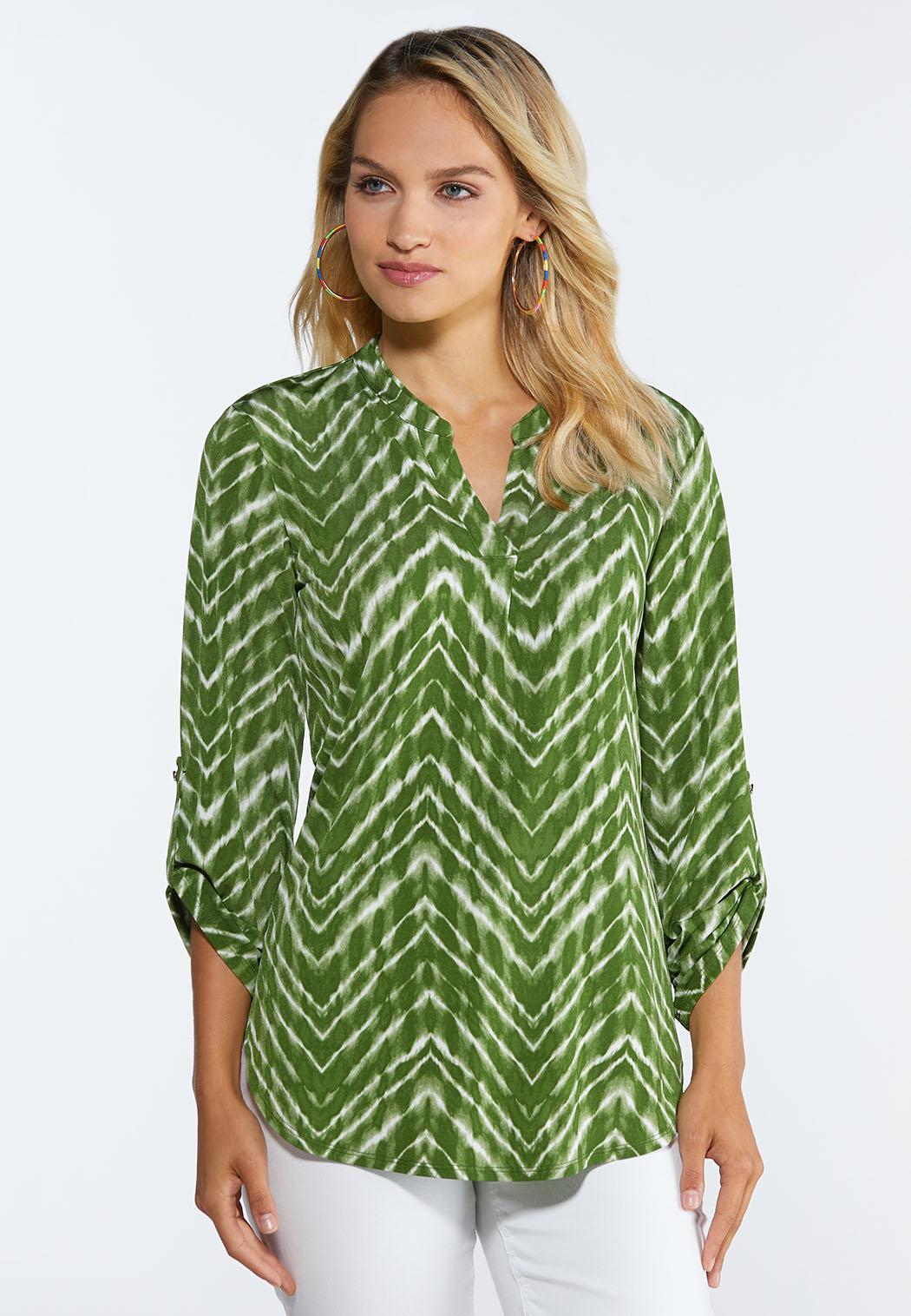 Green Tie Dye Top