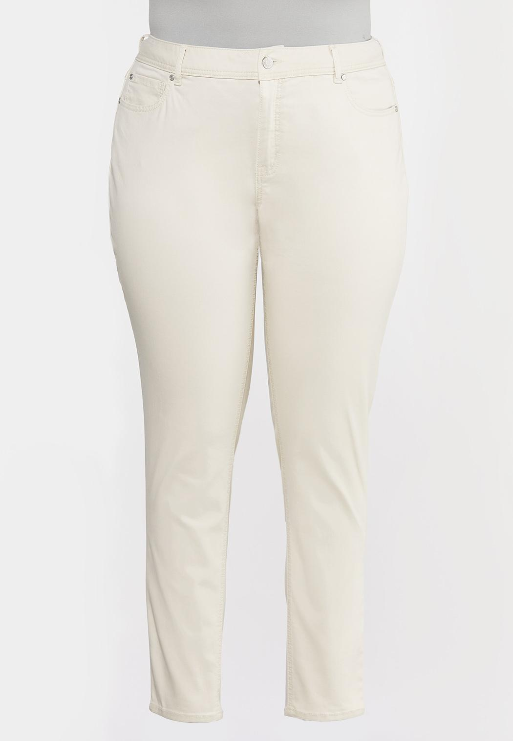 Plus Size High-Rise Colored Skinny Jeans