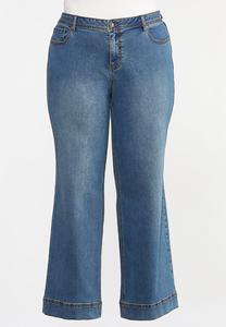 Plus Size High-Rise Wide Leg Jeans