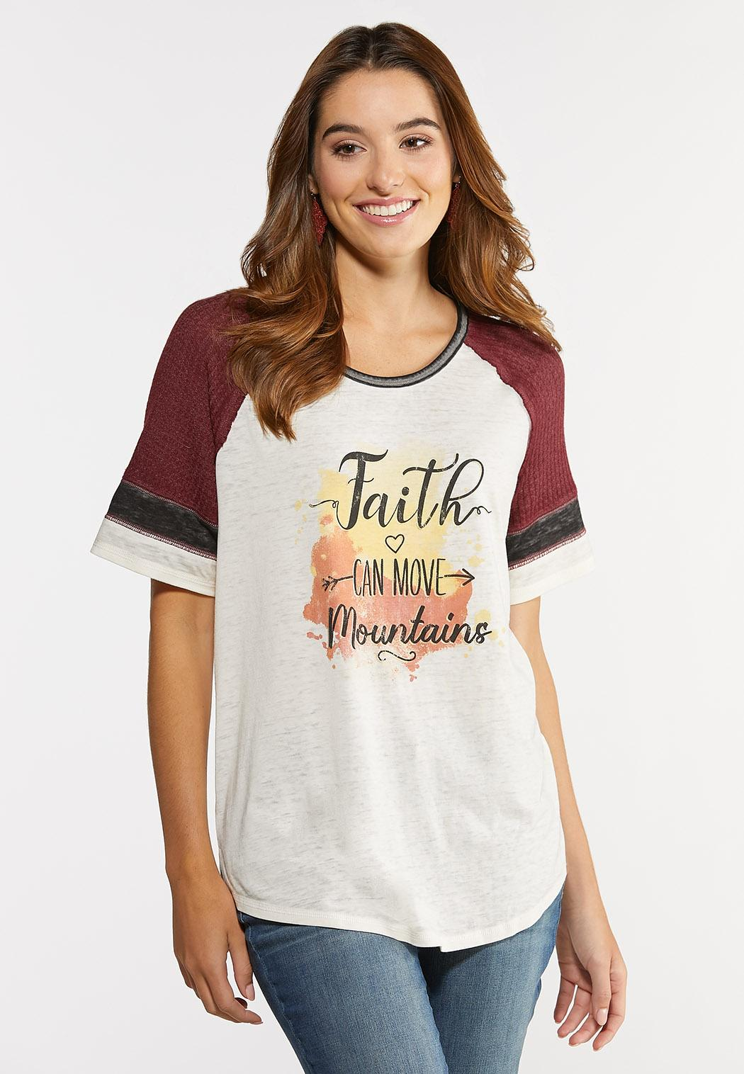 Plus Size Faith Can Move Mountains Tee