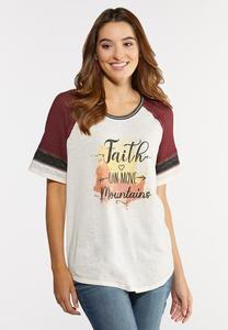 Plus Size Faith Can Move Mountains Tee