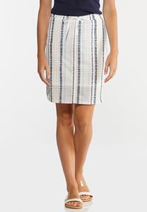 Faded Stripe Mini Skirt