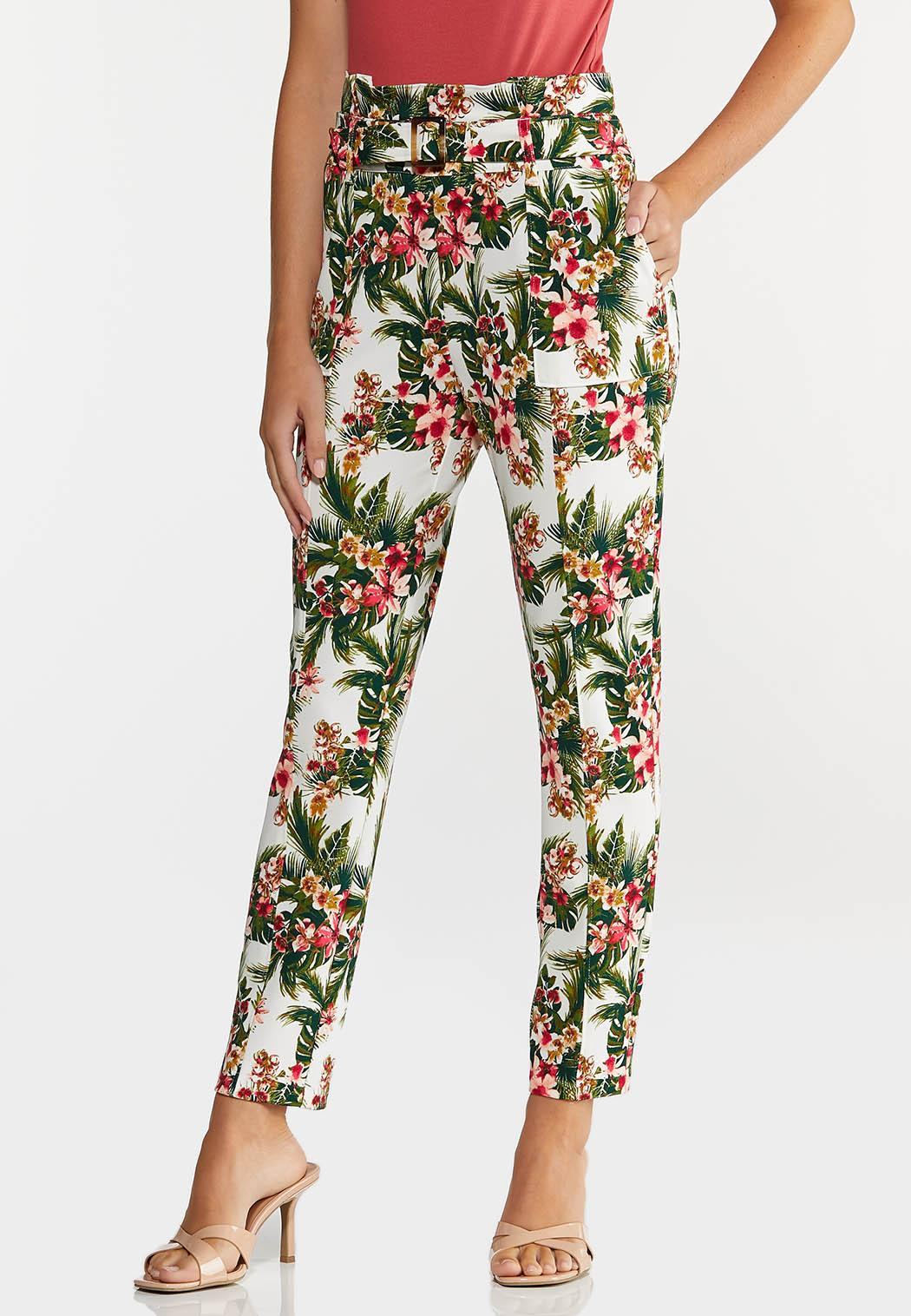 Tropical Slim Utility Pants