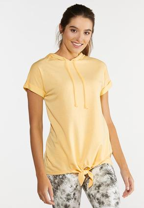 Hooded Tie Waist Top