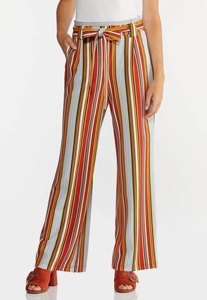 Striped Paperbag Palazzo Pants
