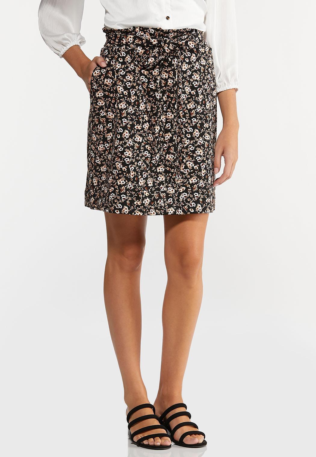 Floral Garden Tie Waist Skirt