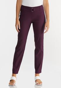 Purple Belted Bengaline Pants