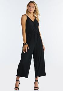 Plus Size Strappy Cropped Jumpsuit