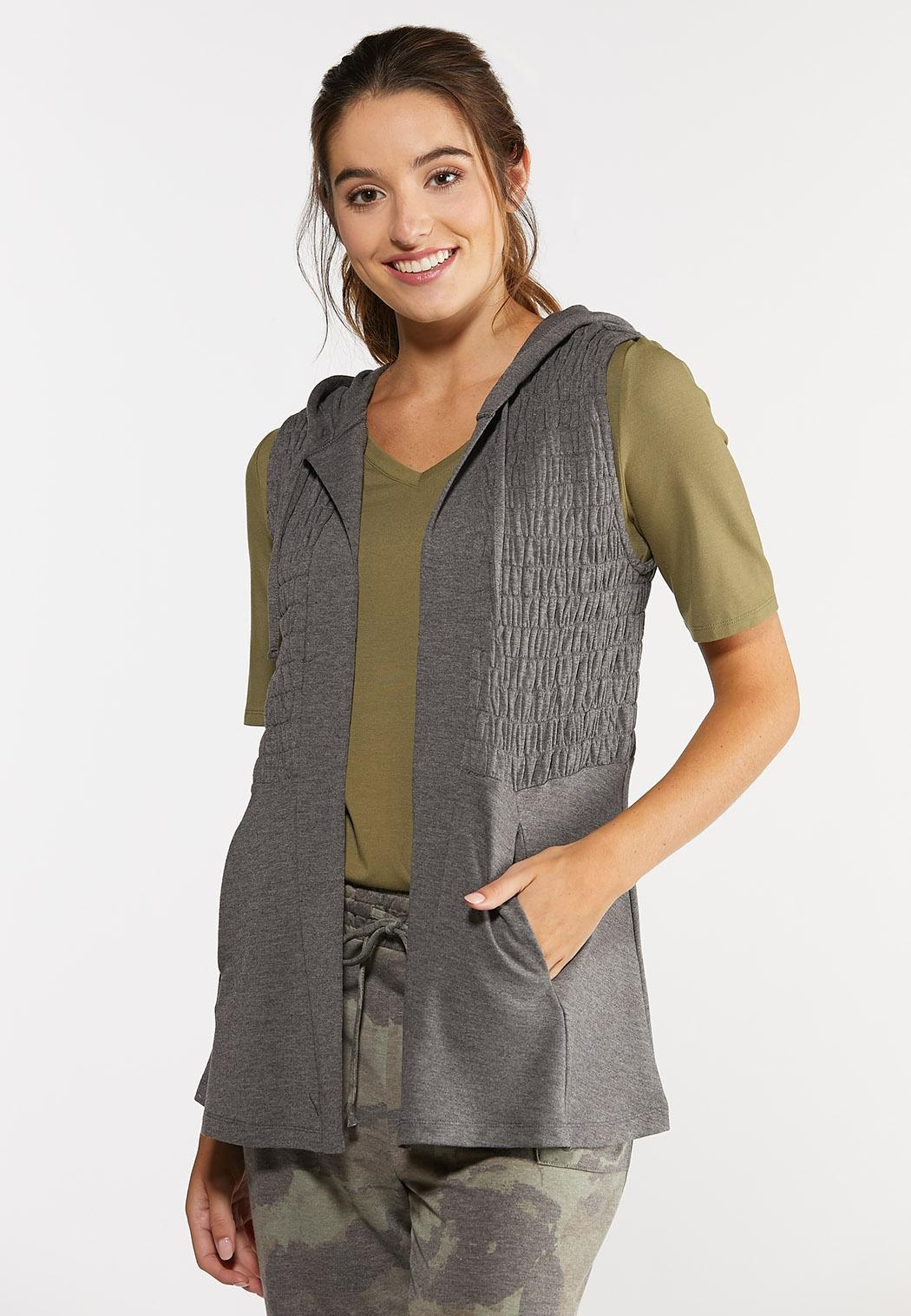 Smocked French Terry Vest