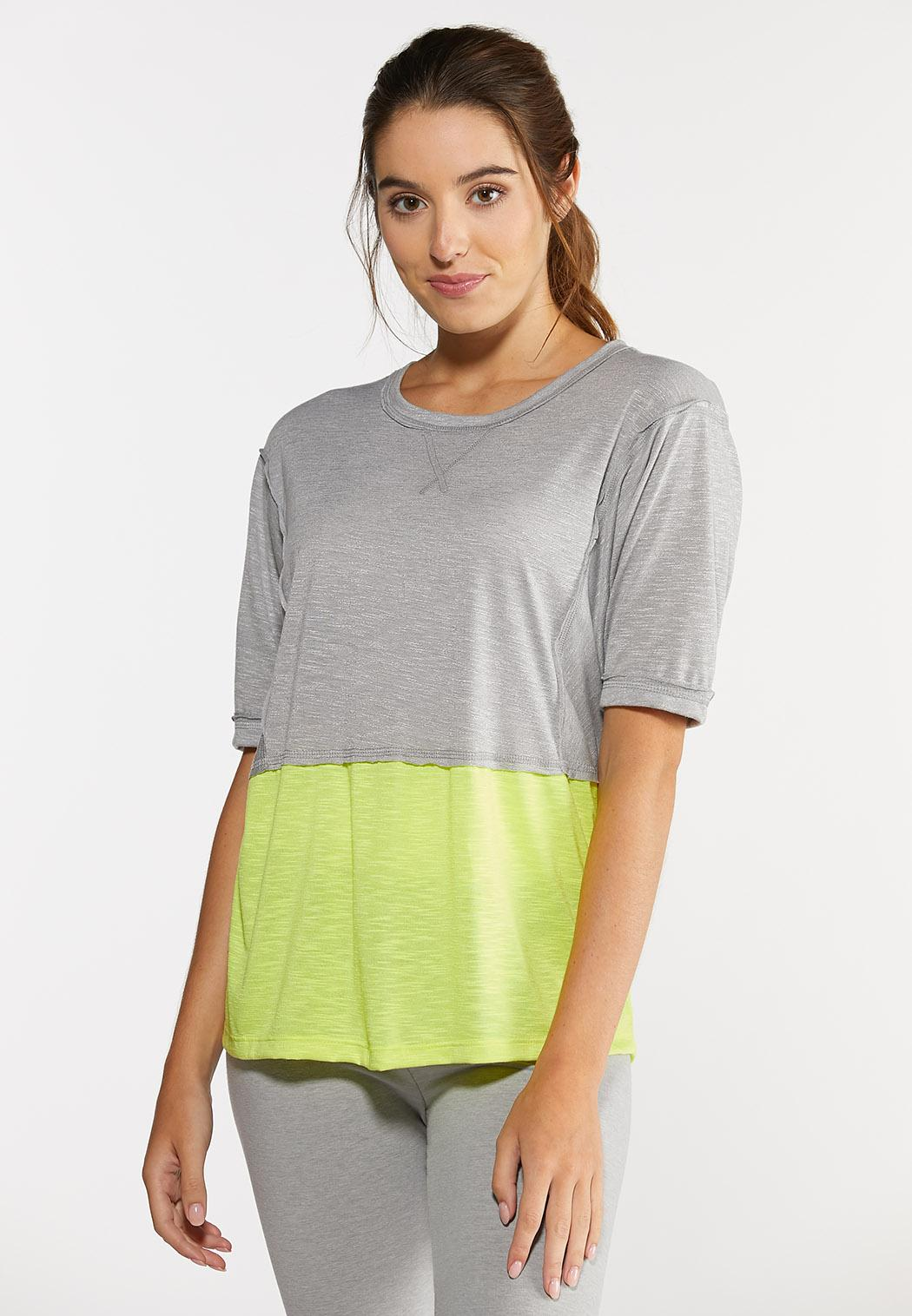 Plus Size Colorblock Athleisure Tee
