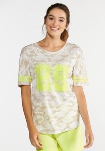 Plus Size Tan Sporty Camo Tee