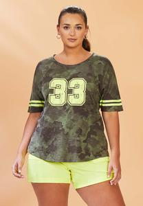 Plus Size Sporty Camo Tee