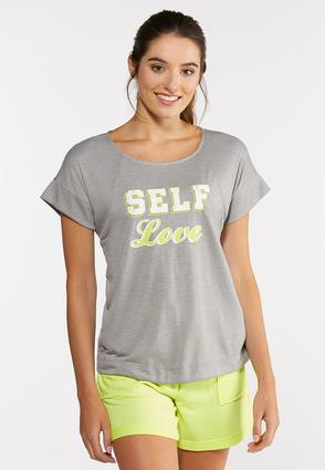 Plus Size Self Love Active Top