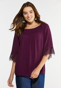 Lace Trim Poet Top