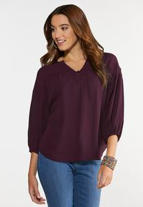 Purple Poet Top