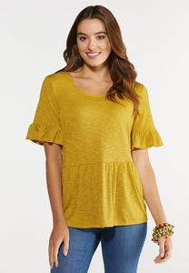 Ruffled Babydoll Top