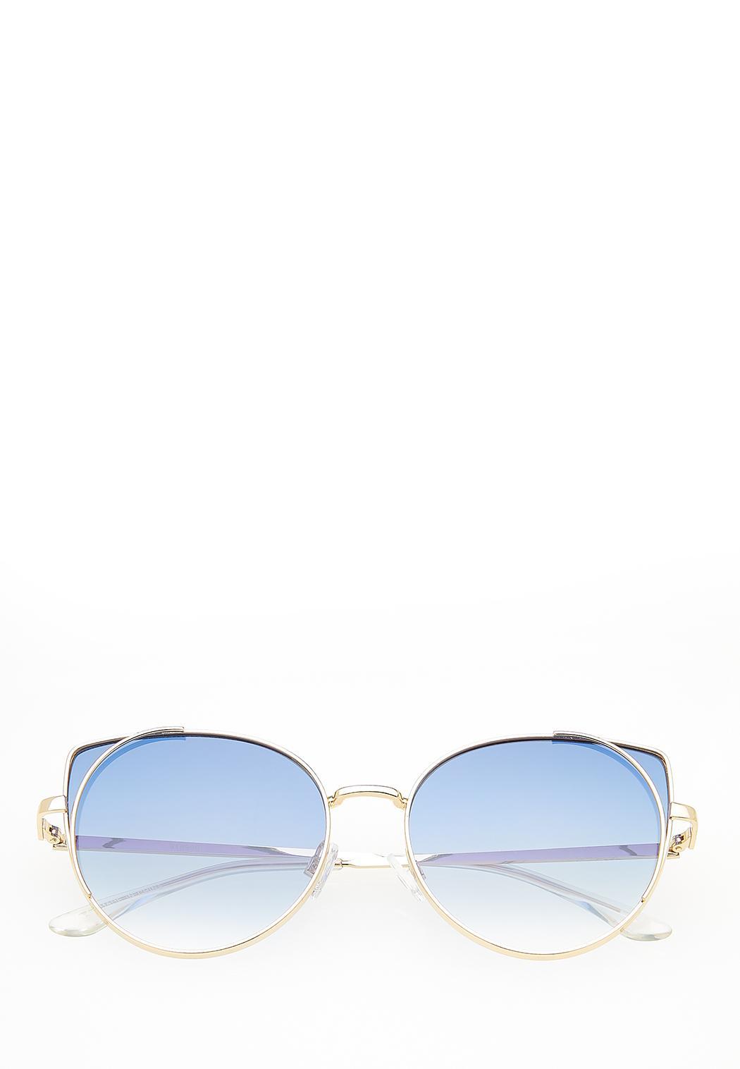 Metal Rim Cateye Sunglasses