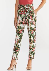 Petite Tropical Slim Utility Pants