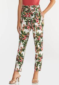 Petite Tropical Slim Utility Pants