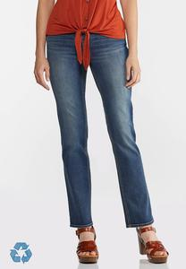 Petite Straight High-Rise Jeans