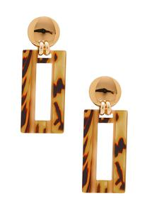 Cutout Rectangle Tort Earrings