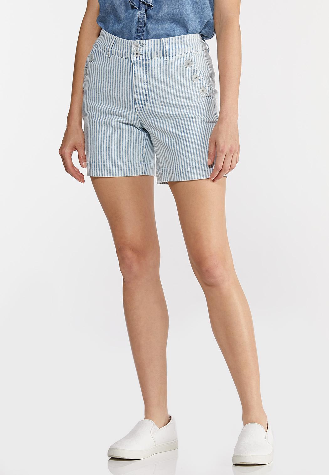 Denim Stripe Sailor Shorts